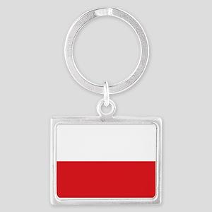 Polish flag Landscape Keychain