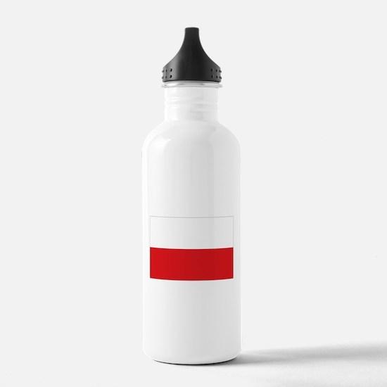 Polish flag Water Bottle