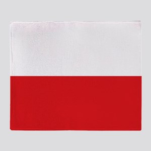 Polish flag Throw Blanket