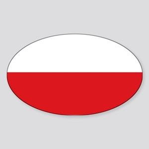 Polish flag Sticker (Oval)