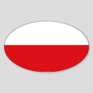 Polish flag Sticker (Oval)