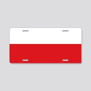 Polish flag Aluminum License Plate