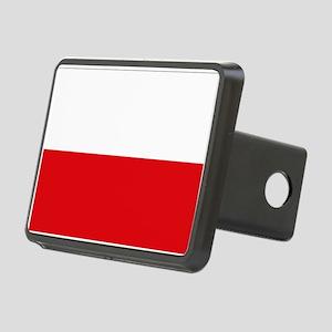 Polish flag Rectangular Hitch Cover