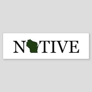 Native - Wisconsin Bumper Sticker