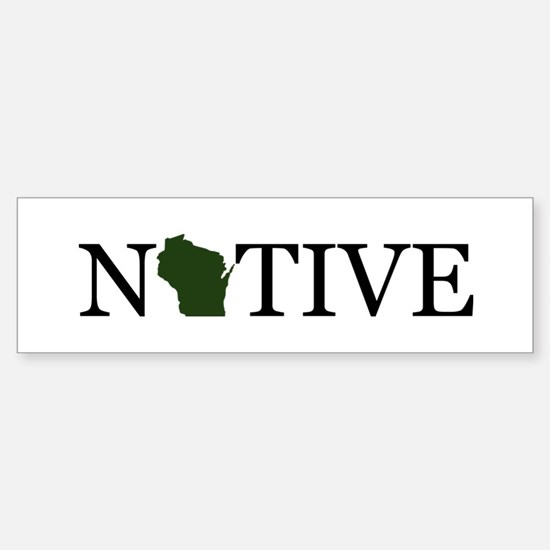 Native - Wisconsin Bumper Bumper Bumper Sticker