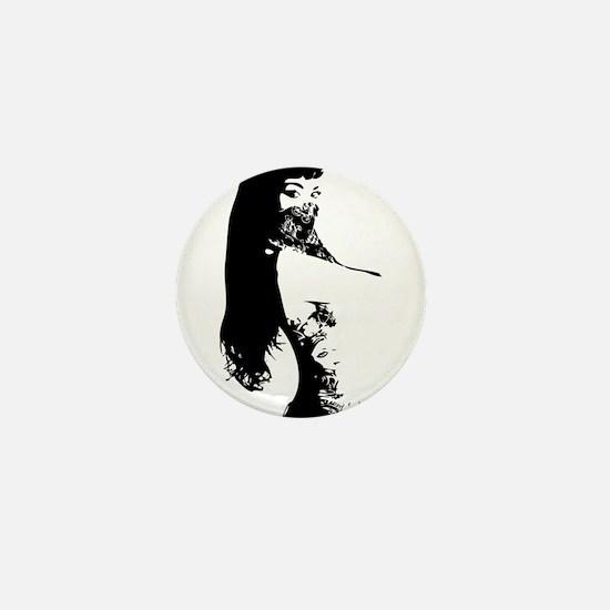 Bandana Girl Mini Button