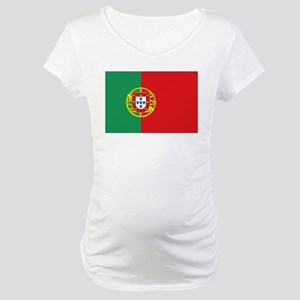Portuguese flag Maternity T-Shirt
