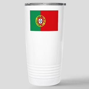 Portuguese flag Stainless Steel Travel Mug