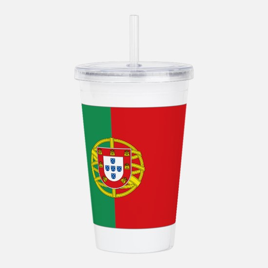 Portuguese flag Acrylic Double-wall Tumbler