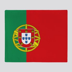 Portuguese flag Throw Blanket
