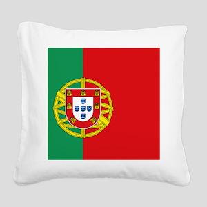 Portuguese flag Square Canvas Pillow