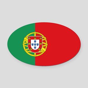 Portuguese flag Oval Car Magnet