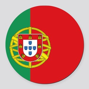 Portuguese flag Round Car Magnet