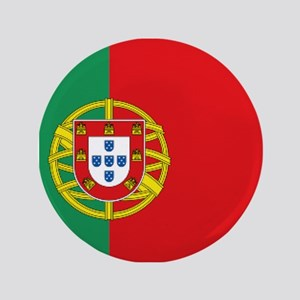 "Portuguese flag 3.5"" Button"