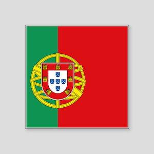"""Portuguese flag Square Sticker 3"""" x 3"""""""