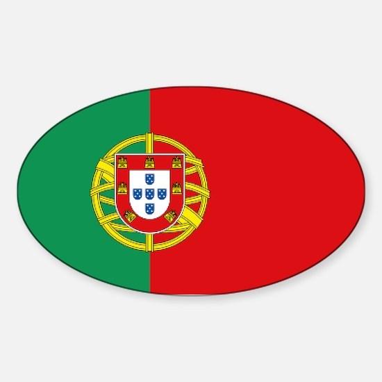 Portuguese flag Sticker (Oval)