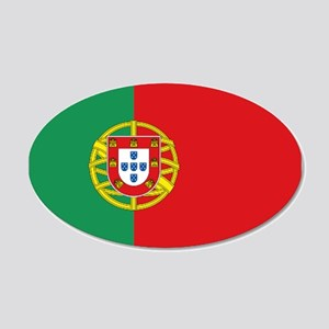 Portuguese flag 20x12 Oval Wall Decal