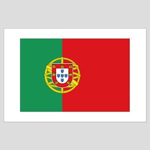 Portuguese flag Large Poster