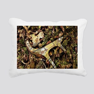 camouflage deer antler Rectangular Canvas Pillow