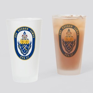 USS Reuben James FFG-57 Drinking Glass