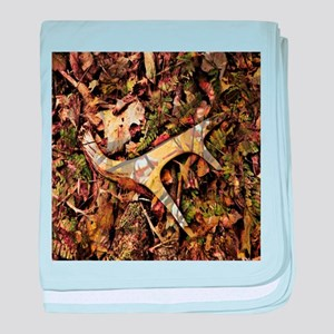 camouflage deer antler baby blanket