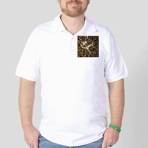 camouflage deer antler Golf Shirt