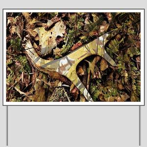 camouflage deer antler Yard Sign