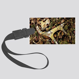 camouflage deer antler Large Luggage Tag