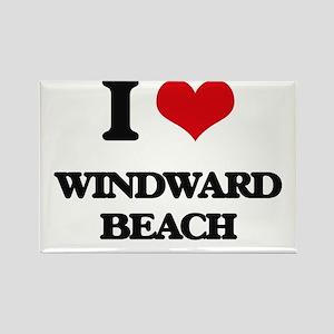 I Love Windward Beach Magnets