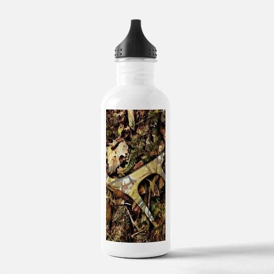 camouflage deer antler Water Bottle
