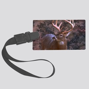 camouflage deer Large Luggage Tag