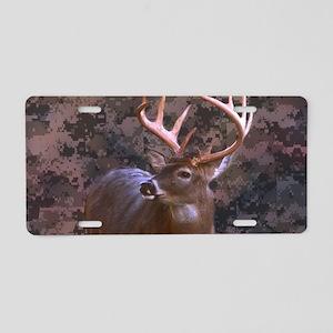 camouflage deer Aluminum License Plate