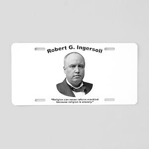 Ingersoll: Slavery Aluminum License Plate