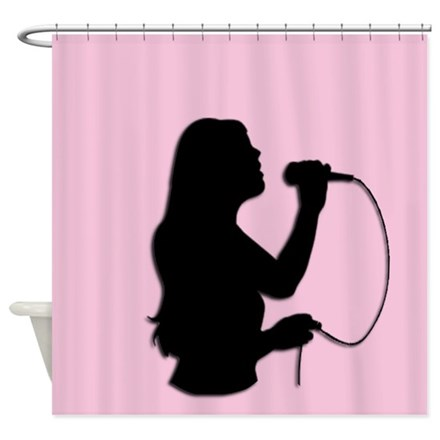 Female Singer Pink Shower Curtain