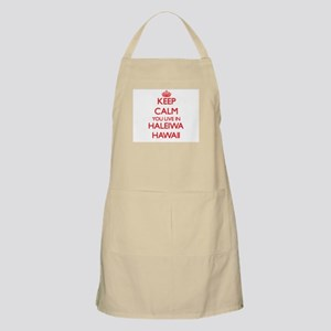 Keep calm you live in Haleiwa Hawaii Apron