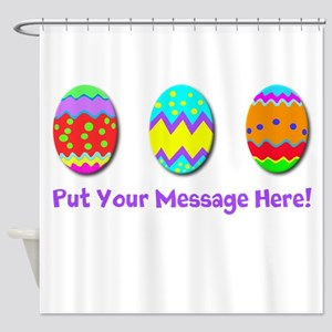 Camouflage Easter Eggs - Happy Shower Curtain