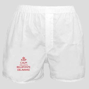 Keep calm you live in Bellefonte Dela Boxer Shorts
