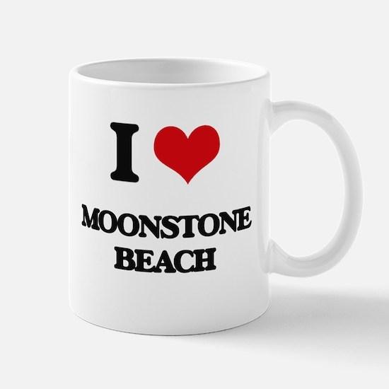 I Love Moonstone Beach Mugs