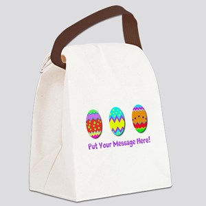 Your Message Easter Eggs Canvas Lunch Bag