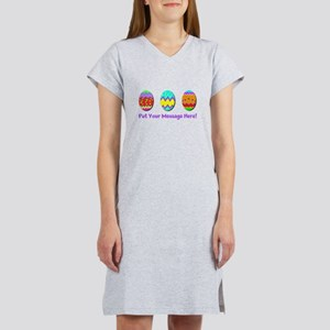 Your Message Easter Eggs Women's Nightshirt