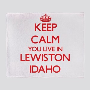 Keep calm you live in Lewiston Idaho Throw Blanket