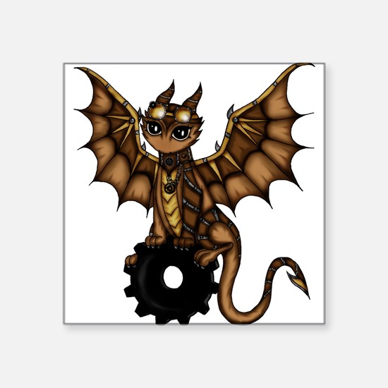"Unique Cute dragon Square Sticker 3"" x 3"""