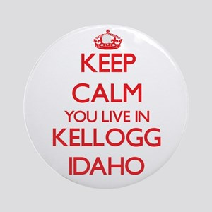 Keep calm you live in Kellogg Ida Ornament (Round)
