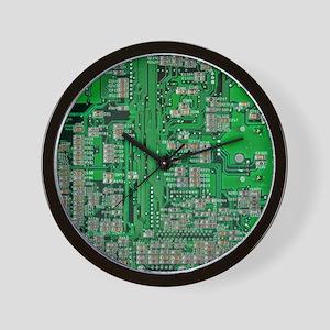 Circuit Board Wall Clock
