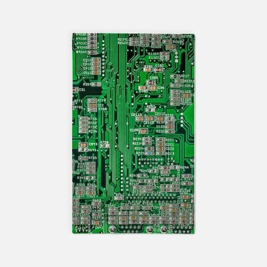 Circuit Board Area Rug