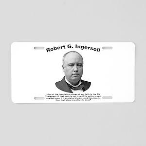 Ingersoll: OldTest Aluminum License Plate