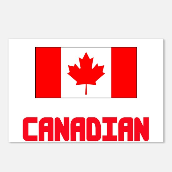 Canadian Flag Design Postcards (Package of 8)