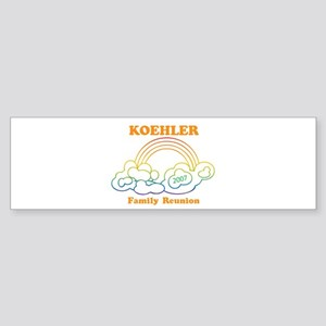 KOEHLER reunion (rainbow) Bumper Sticker