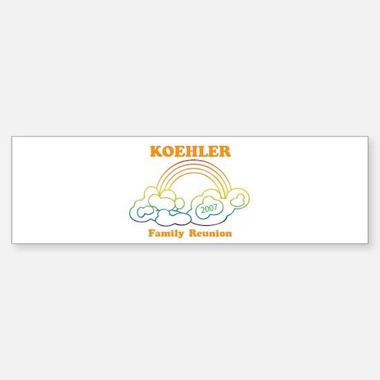 KOEHLER reunion (rainbow) Bumper Bumper Bumper Sticker