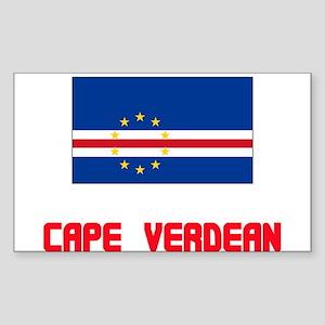 Cape Verdean Flag Design Sticker